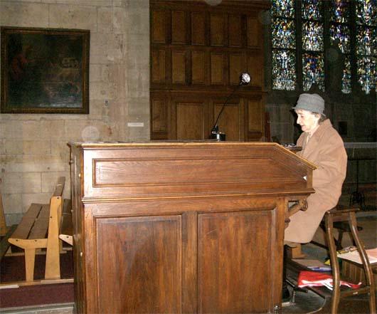 Marie-Claude Saintillan à l'orgue polyphone de Saint-Aspas (Melun)