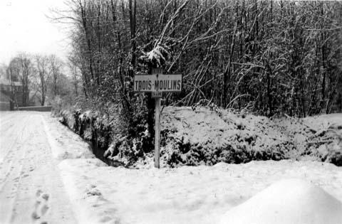 Trois-Moulins sous la neige