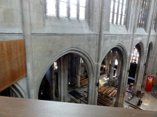 Saint-Aspais vu de la nouvelle tribune